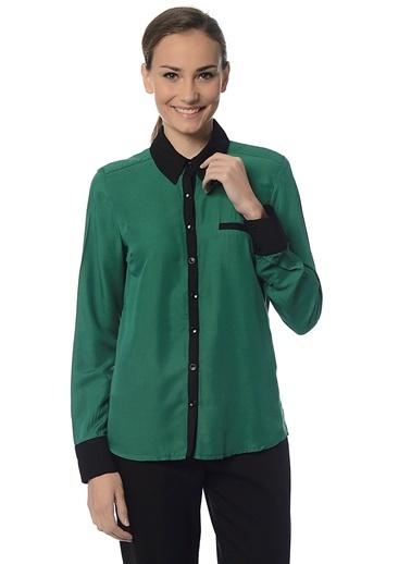 Asymmetry Uzun Kollu Gömlek Yeşil